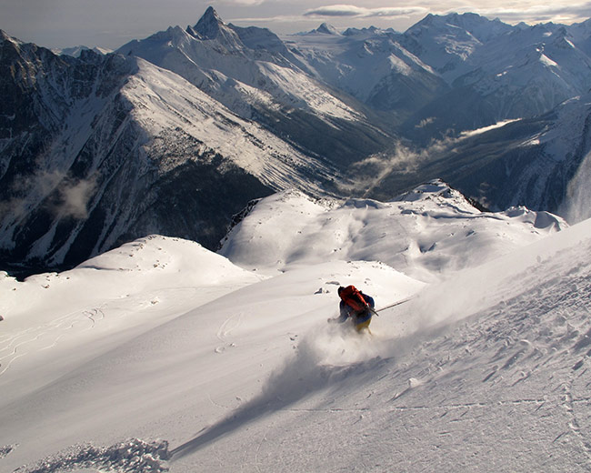 Alpine Skiing at the Durrand Glacier Chalet, BC