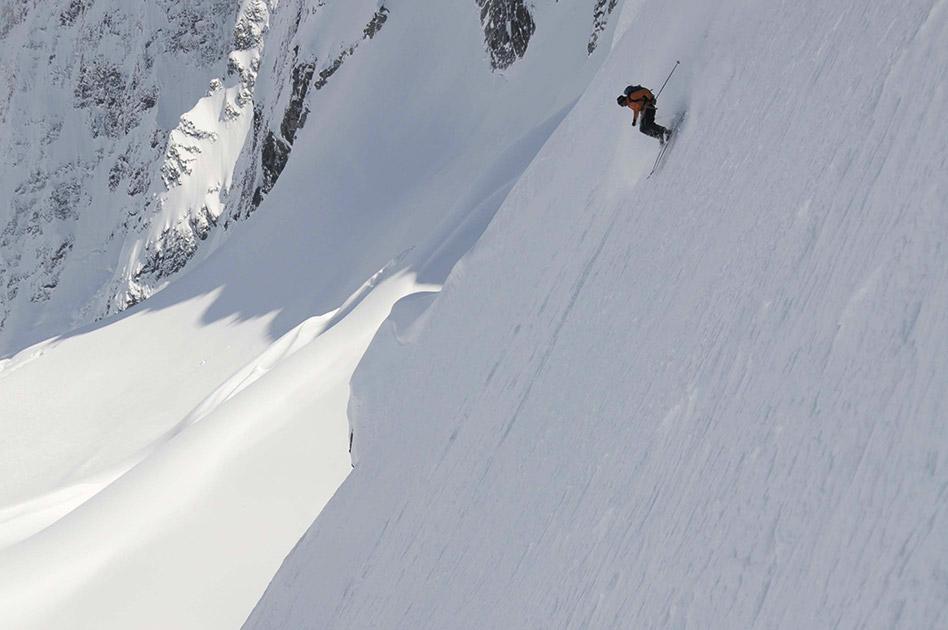Steilgelände Skifahren